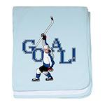 Retro Hockey baby blanket
