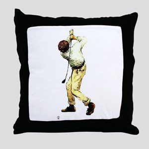 I Play With Balls #1B - Men's Golf - Throw Pillow