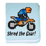Shred the Gnar baby blanket