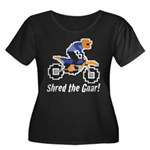 Shred the Gnar Women's Plus Size Scoop Neck Dark T