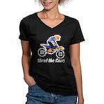 Shred the Gnar Women's V-Neck Dark T-Shirt