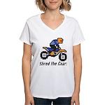 Shred the Gnar Women's V-Neck T-Shirt