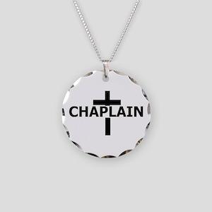 Chaplain Necklace Circle Charm