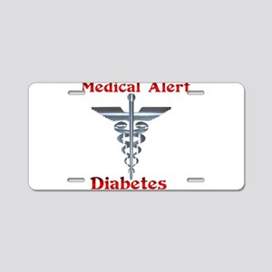 Diabetes Medical Alert Rod of Aluminum License Pla
