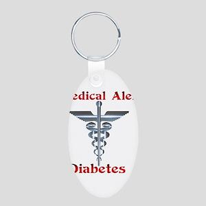 Diabetes Medical Alert Rod of Aluminum Oval Keycha