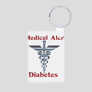 Diabetes Medical Alert Rod of Aluminum Photo Keych