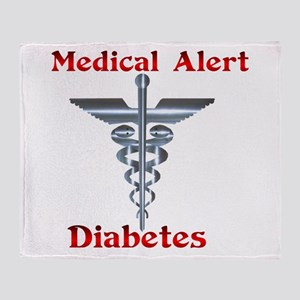 Diabetes Medical Alert Rod of Throw Blanket