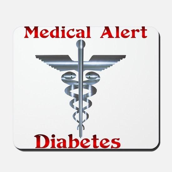 Diabetes Medical Alert Rod of Mousepad