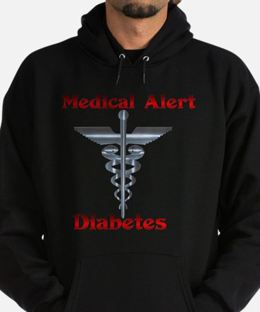 Diabetes Medical Alert Rod of Hoodie (dark)