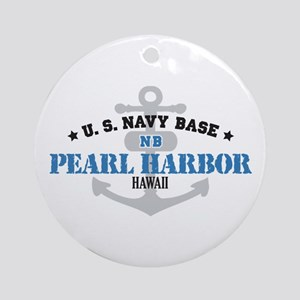 US Navy Pearl Harbor Base Ornament (Round)