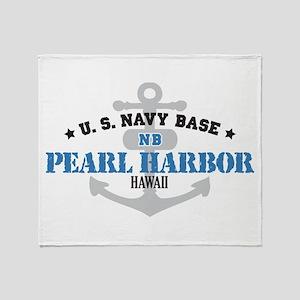 US Navy Pearl Harbor Base Throw Blanket