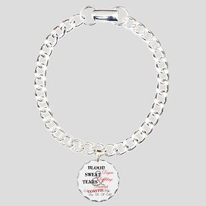 Blood Sweat Diamonds Coastie Wife Charm Bracelet,