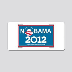 NoBama 2012 No Hope Aluminum License Plate