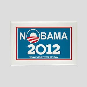 NoBama 2012 No Hope Rectangle Magnet