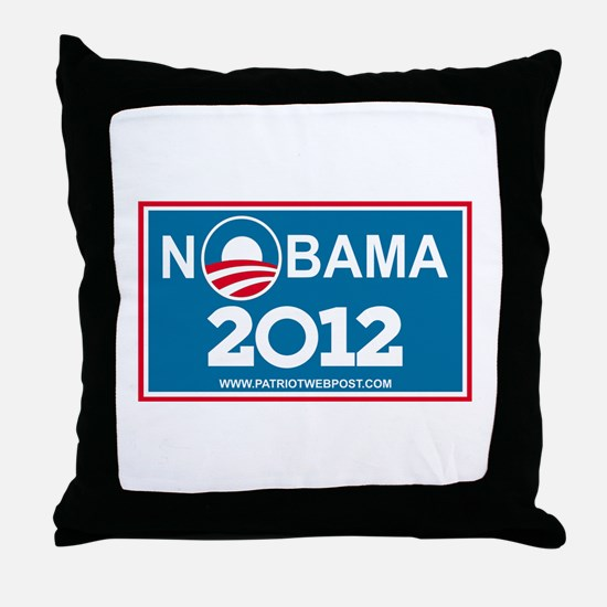 NoBama 2012 No Hope Throw Pillow