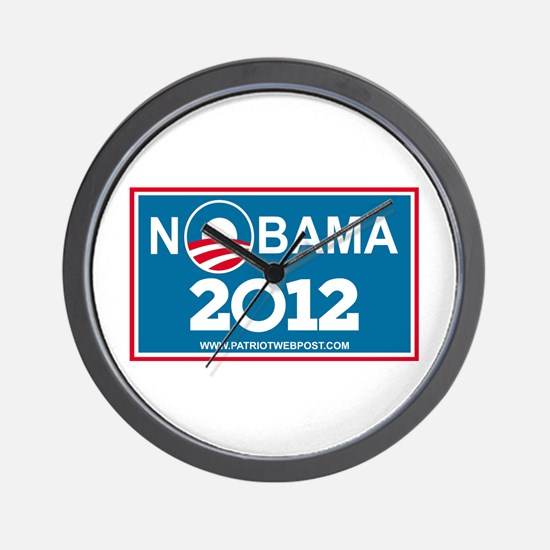 NoBama 2012 No Hope Wall Clock