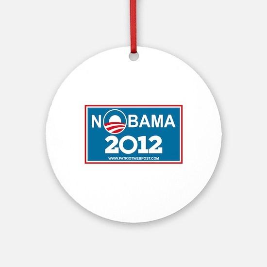 NoBama 2012 No Hope Ornament (Round)