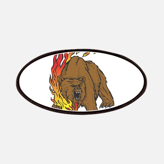 Flames and Grizzly Bear Desig Patches