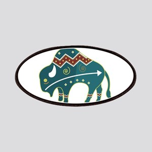 Native Buffalo Design Patches