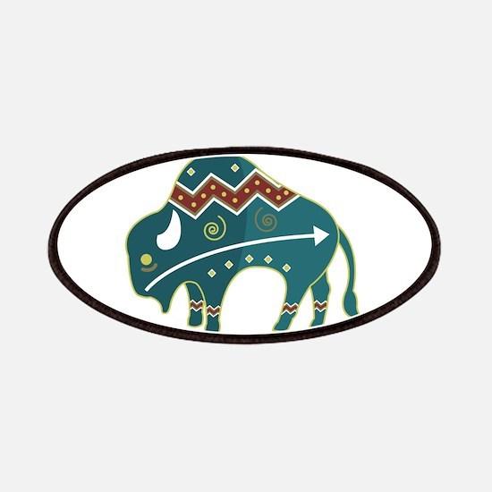 Native Buffalo Design Patches