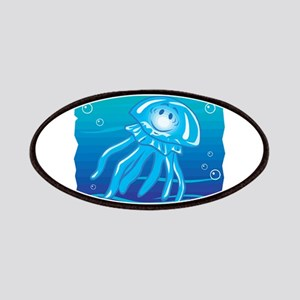 Cute Little Blue Jellyfish Patches