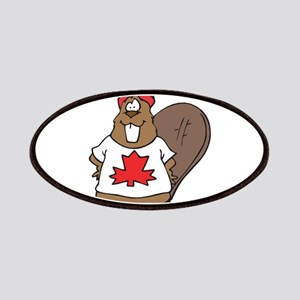 Goofy Canadian Beaver in Shir Patches
