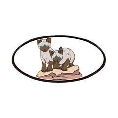 Siamese Kitten Twins Patches