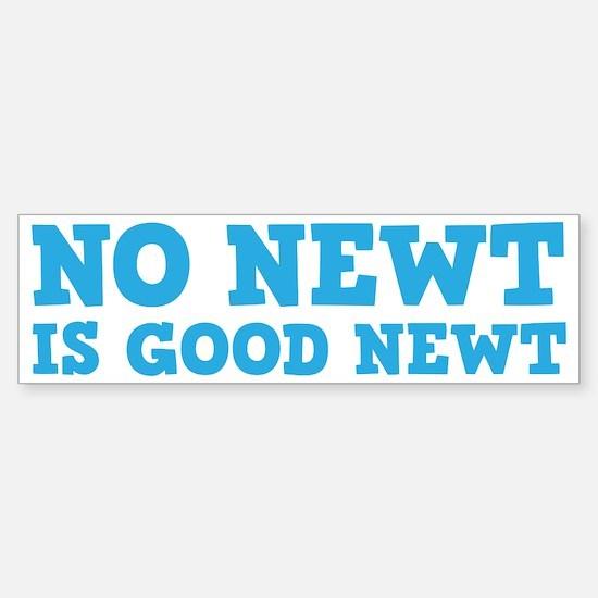 No Newt is Good Newt Sticker (Bumper)