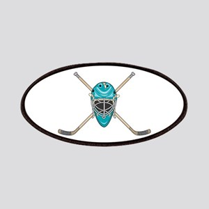 Hockey Goalie Mask and Cross Patches