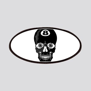 Eight Ball (8 Ball) Skull Patches