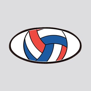 Red, White and Blue Volleybal Patches