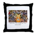 The Birding Cat Throw Pillow