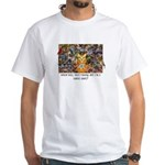 The Birding Cat White T-Shirt