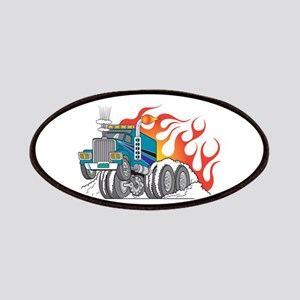 Hot Rod (Flames) 18 Wheeler T Patches