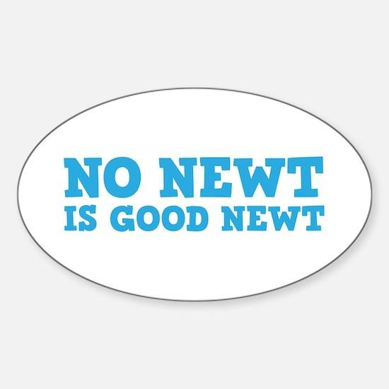 No Newt is Good Newt Sticker (Oval)