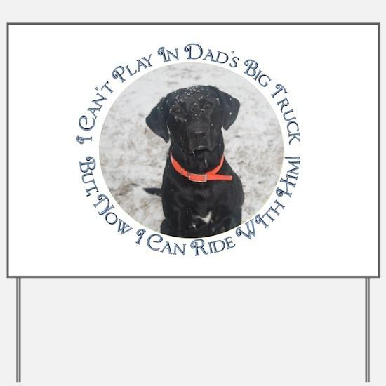 Black Labrador Retriever Big Yard Sign