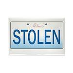 IllinoisStolenPlate Rectangle Magnet (100 pack)