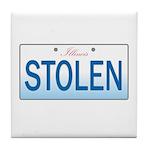IllinoisStolenPlate Tile Coaster