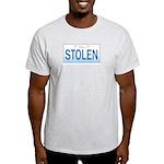 IllinoisStolenPlate Ash Grey T-Shirt