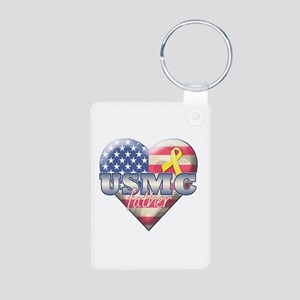My Daughter Serves - Aluminum Photo Keychain