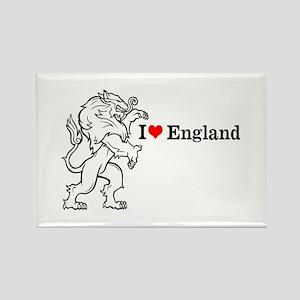 I Love England Rectangle Magnet
