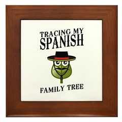 Tracing My Spanish Family Tree Framed Tile
