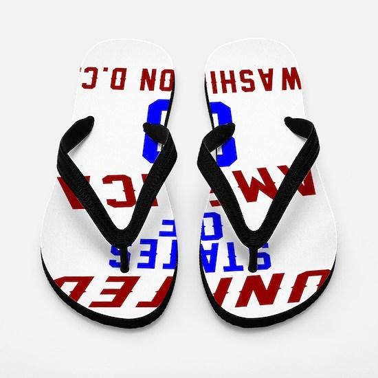 America 80 Birthday Flip Flops