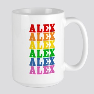 Rainbow Name Large Mug