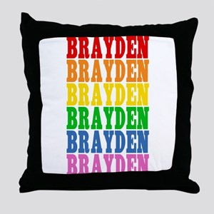 Rainbow Name Throw Pillow