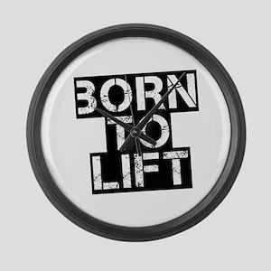Born to Lift Large Wall Clock