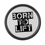 Born to Lift Large Wall Clock