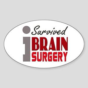 Brain Surgery Survivor Sticker (Oval)