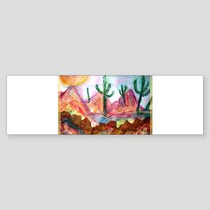 Desert, colorful, Sticker (Bumper)