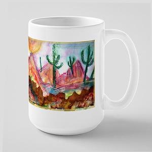 Desert, colorful, Large Mug